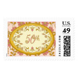 Vintage Victorian Floral 50th Anniversary Postage