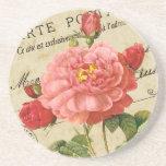 Vintage Victorian Floral Beverage Coaster