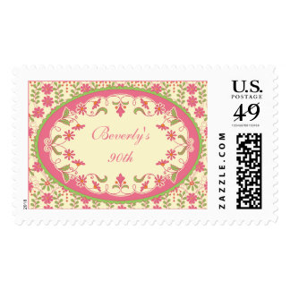 Vintage Victorian Floral Daisy Birthday Postage