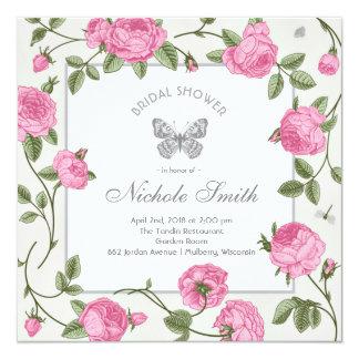 Vintage Victorian Floral Garden Bridal Shower Card