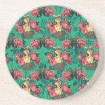 Vintage Victorian Flowers Drink Coasters