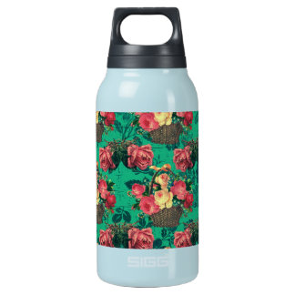 Vintage Victorian Flowers Insulated Water Bottle
