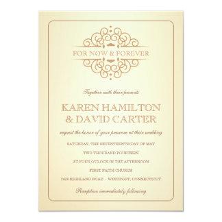 Vintage Victorian Formal Wedding Invitations