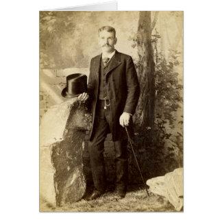 Vintage Victorian Gentleman Portait Card