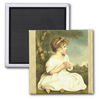 Vintage Victorian Girl Early Morning Magnet