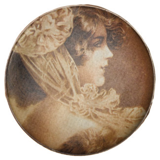 Vintage Victorian Girl Illustration Chocolate Covered Oreo