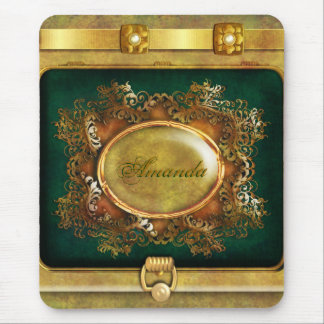 Vintage victorian gold mouse pad