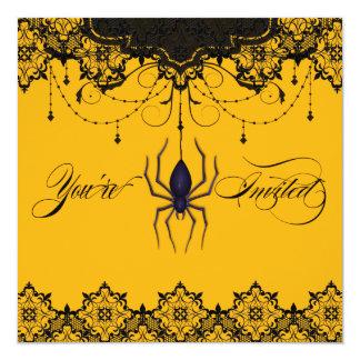Vintage Victorian Gold Spider Invitation