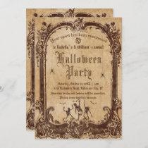 Vintage Victorian Gothic Halloween Invitation