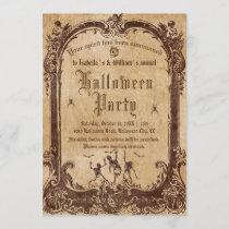 Vintage Victorian Gothic Halloween Party Invitation