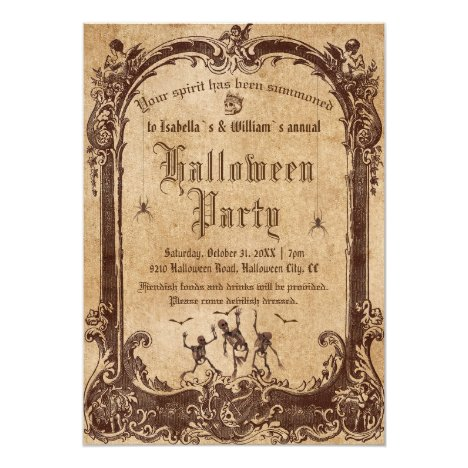 Vintage Victorian Gothic Halloween Party Invitation
