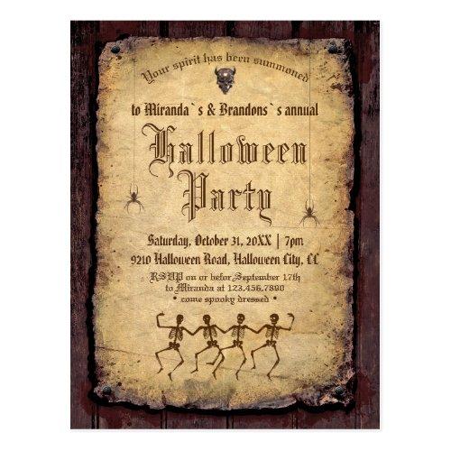 Vintage Victorian Gothic Halloween Party Postcard