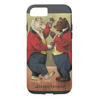 Vintage Victorian Happy, Gay, Dancing Bears iPhone 8/7 Case