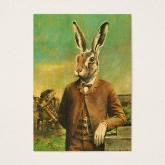 Vintage Victorian Hare ACEO Buisness Card
