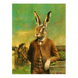 Vintage Victorian Hare Postcard