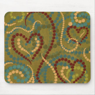 Vintage Victorian Hearts & Beads Mousepad
