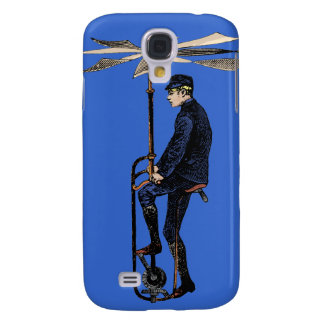Vintage Victorian Helicopter Flying Contraption Galaxy S4 Case