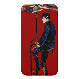 Vintage Victorian Helicopter Flying Contraption Cover For iPhone 4