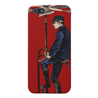 Vintage Victorian Helicopter Flying Contraption iPhone 5 Cases