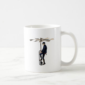Vintage Victorian Helicopter Flying Contraption Coffee Mug