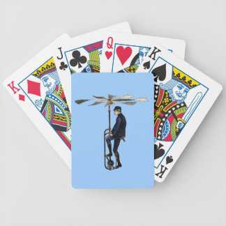 Vintage Victorian Helicopter Flying Contraption Bicycle Card Decks