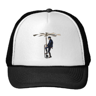 Vintage Victorian Helicopter Flying Contraption Trucker Hat