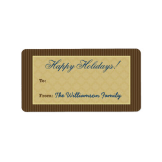 Vintage Victorian Holiday Gift Tag (chocolate) Custom Address Labels