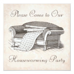 Vintage Victorian Housewarming / Open House Party Custom Invitations
