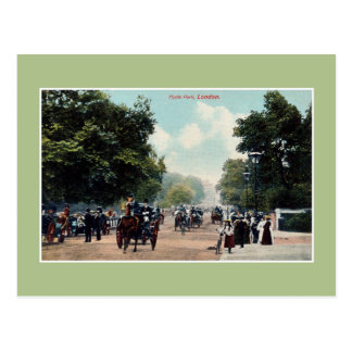 Vintage Victorian Hyde Park London Postcard