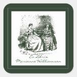 Vintage Victorian Illustration Book Plate Sticker