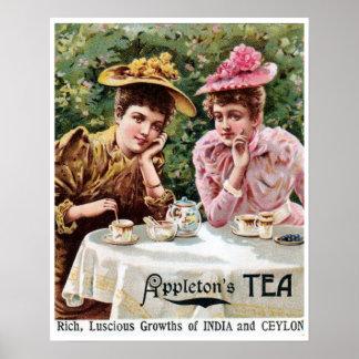 Vintage Victorian India and Ceylon tea ad Posters