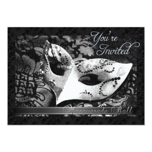 """Vintage Victorian Lace Masquerade Ball Invitation 5"""" X 7"""" Invitation Card"""