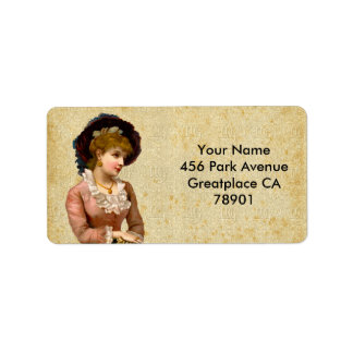 Vintage Victorian Ladies Address or Shipping Label