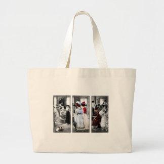 vintage victorian ladies jumbo tote bag