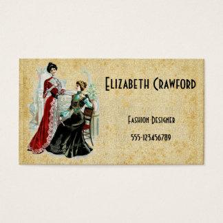 Vintage Victorian Ladies Fashion Business Card