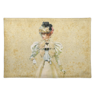 Vintage Victorian Ladies Fashion Placemats