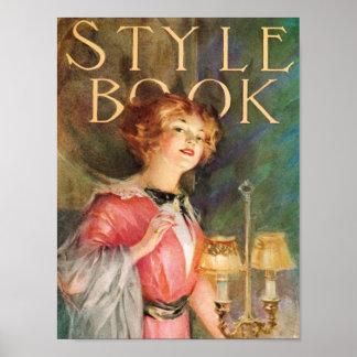 Vintage Victorian Lady Advertisement Art Print