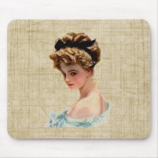 Vintage Victorian Lady Bust Portrait Mousepad