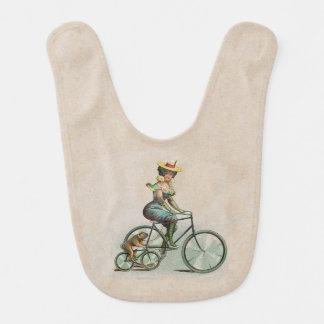Vintage Victorian Lady Dog Bicycle Bib