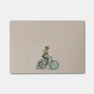 Vintage Victorian Lady Dog Bicycle Post-it® Notes