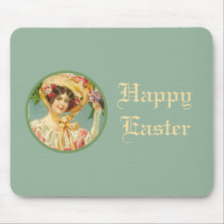 Vintage Victorian Lady Easter Mousepad
