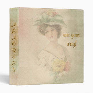 Vintage Victorian Lady Notebook Journal Binder