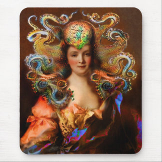 Vintage Victorian Lady Squid Mousepad