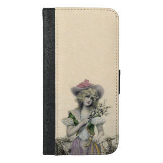 Vintage Victorian Little Bo Peep Sheep Fairy Tale iPhone 6/6s Plus Wallet Case