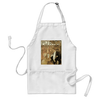 Vintage Victorian Love and Romance, Flirt by Mucha Adult Apron
