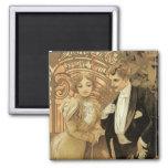 Vintage Victorian Love and Romance, Flirt by Mucha Refrigerator Magnets