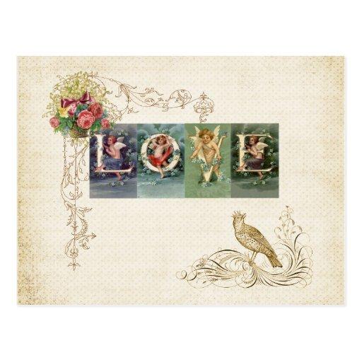 Victorian romantic love letters postcard zazzle home for Victorian home catalog