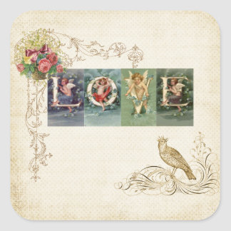 Vintage Victorian Love Square Sticker