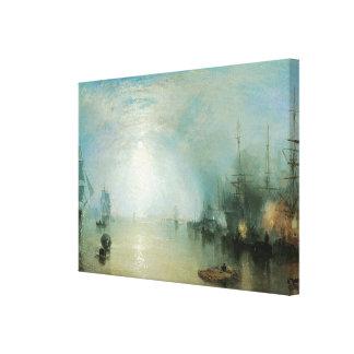 Vintage Victorian Maritime Seascape, Joseph Turner Stretched Canvas Print