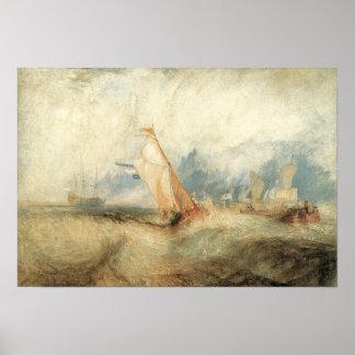 Vintage Victorian Maritime Ship Seascape by Turner Print